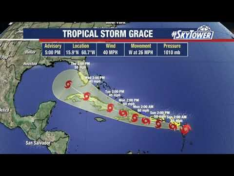 Tropical Storm Grace tracks toward Florida; Fred may become ...