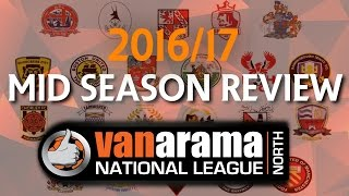 VANARAMA NATIONAL LEAGUE NORTH 2016/17 - Mid Season Review