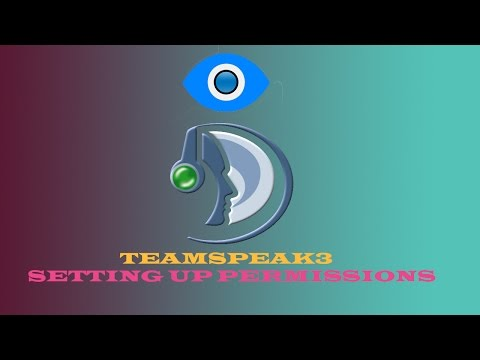 TeamSpeak3 Server | Setting up Permissions, adding Icons and Channels
