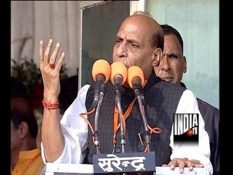 Rajnath Singh live from Modi's Kanpur Rally