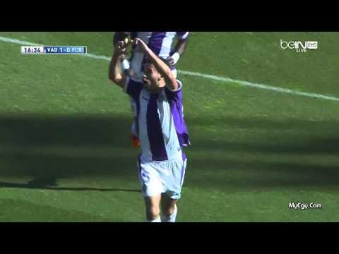 Real Valladolid 1 0 Barcelona هدف مباراه بلد الوليد × برشلونة14-03-08