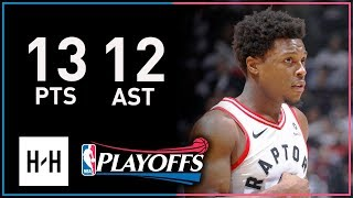 Kyle Lowry Full Game 2 Highlights Raptors vs Wizards 2018 Playoffs - 13 Pts, 7 Reb, 12 Assists!