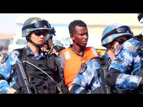 Chinese navy ship hands over suspected pirates to Somalia