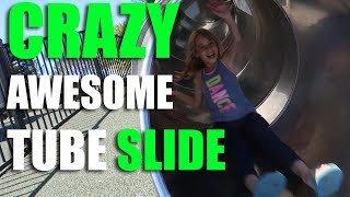 Mackenzie Loves This Slide//Magic Mountain Park//full-time Travel Family Of Four