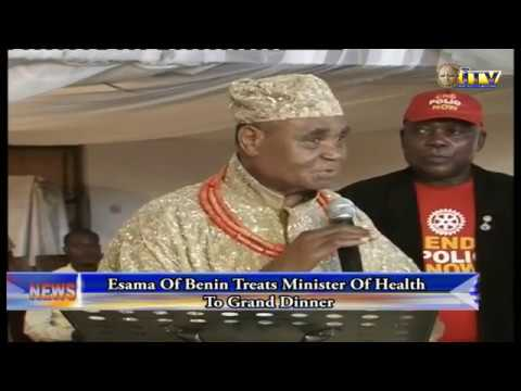 Esama Of Benin Treats Minister Of Health To Grand Dinner