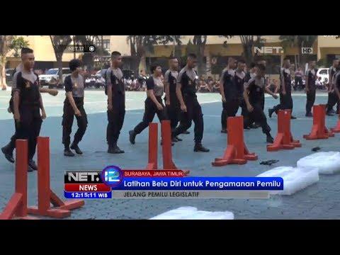 NET12 - Aksi ketampilan bela diri oleh anggota pengendalian ma Polda Jawa ...