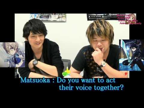 Sword Art Online 3 Alicization/ Voice act Yoshitsugu Matsuoka and Nobunaga Shimazaki