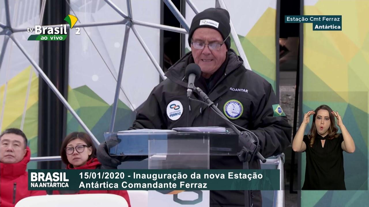 Cerimônia de inauguração das novas instalações da Estação Antártica Comandante Ferraz