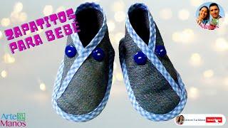 Zapatos para bebé en índigo o fieltro paso a paso fácil