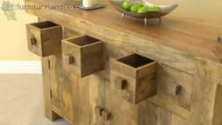 Mantis Light Solid Mango 6 Drawer Sideboard From Oak Furniture Land