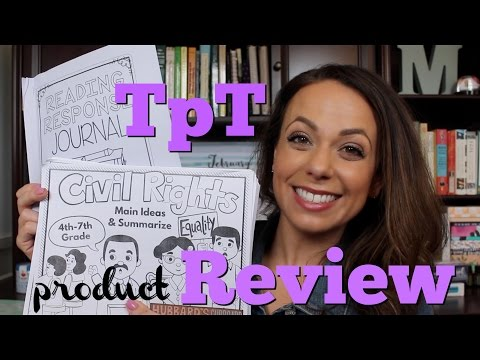 tpt product review {reading journals + civil rights unit}