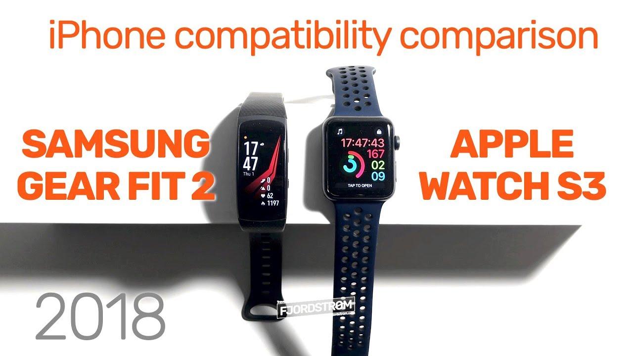 Samsung Gear Fit 2 vs  Apple Watch [NOVEMBER 2018 comparison]