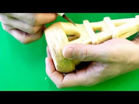 How to Make an Eiffel Tower Carving - Fruit Vegetable Carving Garnish