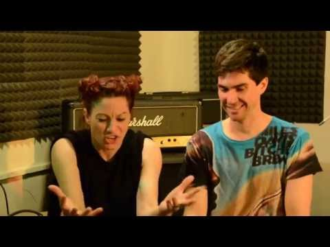 LTrain interviews The Dresden Dolls at Funkadelic Studios!