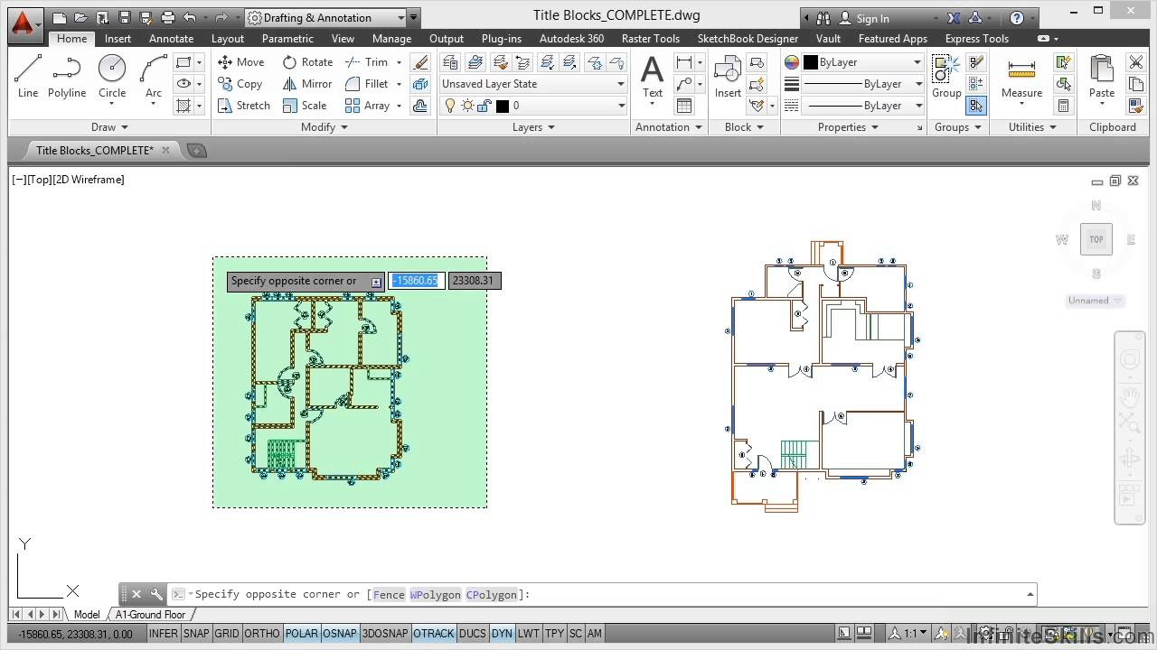 Autocad Space Planning Tutorial Title Blocks Youtube