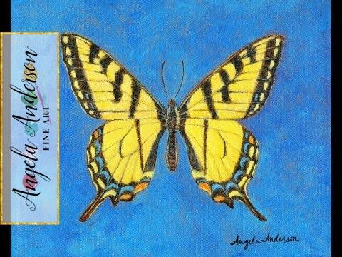 Swallowtail Butterfly Acrylic Painting Tutorial | Fine Art Workshop | Free Lesson | #LoveSummerArt