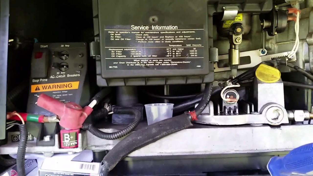 Onan 5500 Marquiz Generator fuel pump trouble shooting and