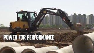 Volvo EW60E Compact excavator - Performance