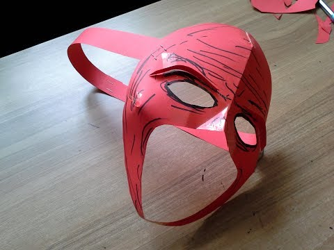 How to make an easy paper kane mask from WWE