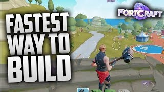 HOW TO BUILD FAST IN FORTCRAFT MOBILE! Fortnite Mobile Clone iOS/Android Gameplay!