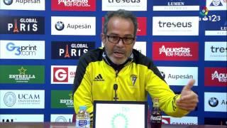 Rueda de prensa de Álvaro Cervera tras  el UCAM Murcia vs Cádiz CF (1-1)