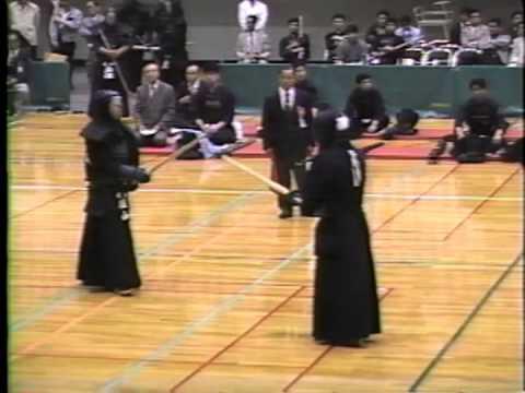 堀山健治(愛知) - 小川春喜(東京) 1990 都道府県対抗剣道大会