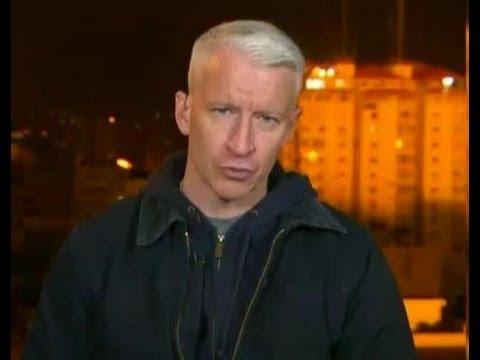Gaza Strip: Anderson Cooper Shaken in Blast