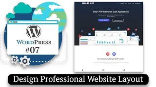 How to Design Professional Website Layout | How to Make a Website #07