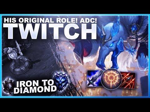TWITCH IN HIS ORIGINAL ROLE! ADC! - Iron to Diamond | League of Legends