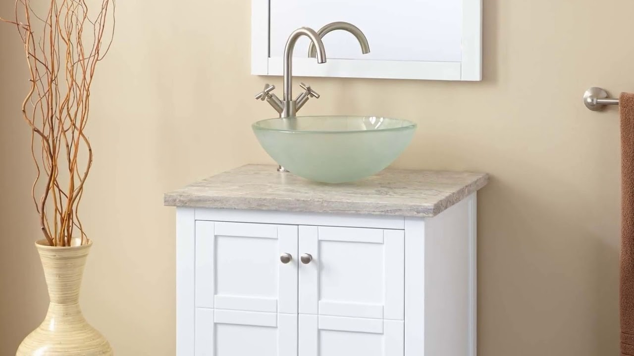 Bathroom Vanity with Vessel Sink India Ideas - YouTube