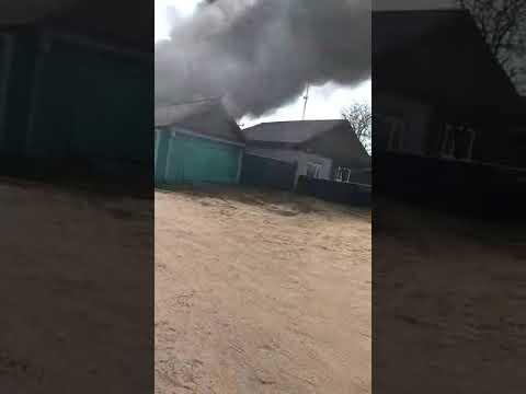 Пожар село Волчиха май 2019 г.