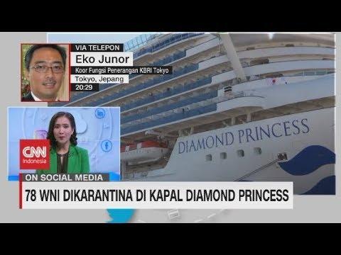 78 WNI Dikarantina Di Kapal Diamond Princess