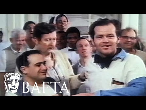 Jack Nicholson Accepts His Award On The Set Of One Flew Over The Cuckoos Nest