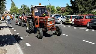 Modeltruck Train on Tractor Show part 01