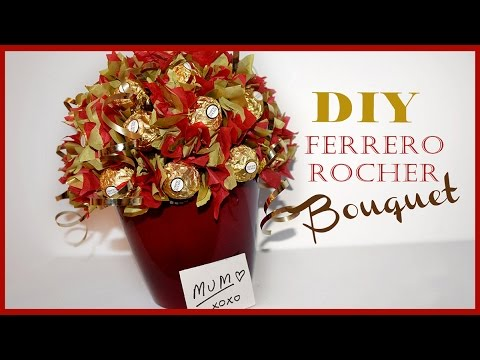 Ferrero Rocher Bouquet Mother S Day Gift Easy Inexpensive Beautiful Wow Youtube