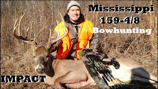 MS Delta Bow hunt in the Delta 159-4/8 with Mathews No Cam HTR bowhunting rutting bucks