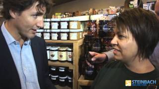 Justin Trudeau discusses Pot with a concerned Steinbach mother.