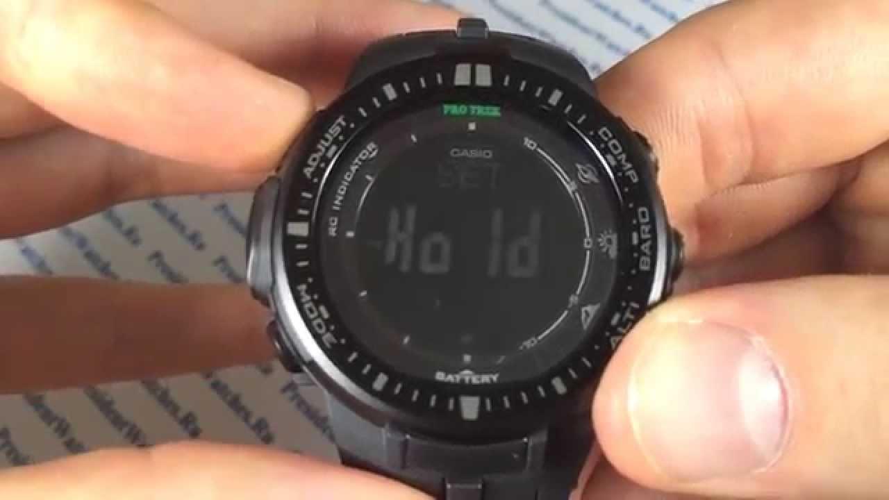 инструкция по пользованию часами casio pro trek prw 3000