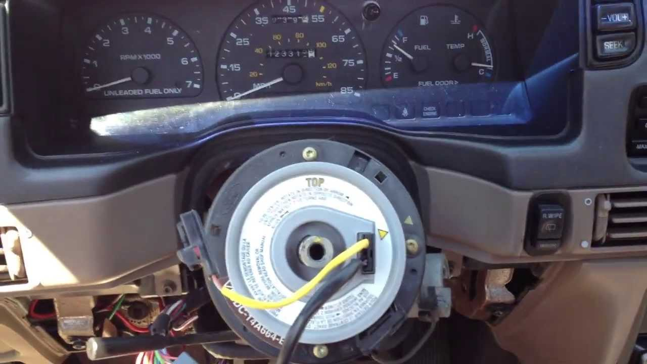 Remove Ford Steering wheel without a puller  YouTube