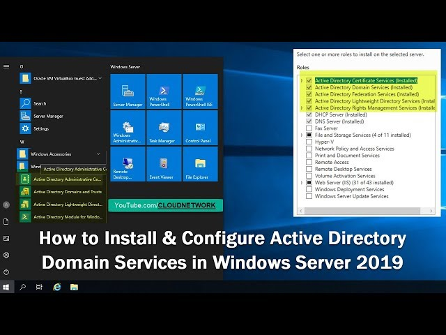 How to Install & Configure Active Directory Domain Services in