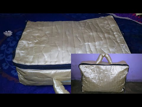 how to make fabric briefcase| fabric briefcase easy tutorial with comfortable handle