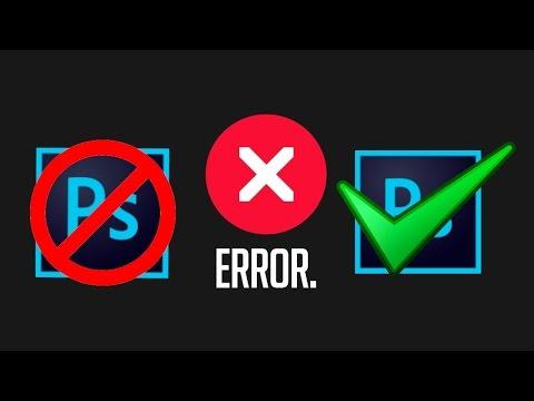 Как решить популярную ошибку при установке Adobe Photoshop For MAC