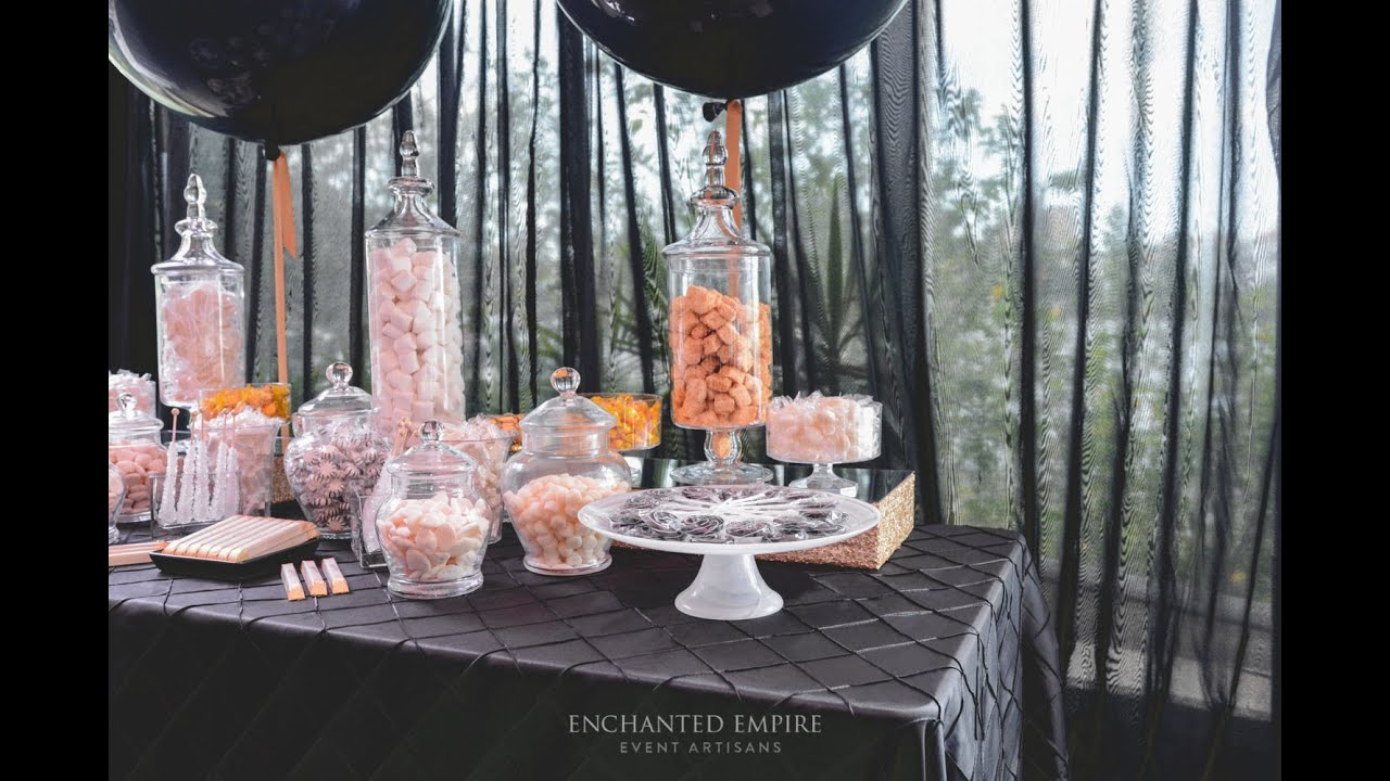 Black Gold Candy Bar Styled By Enchanted Empire Event