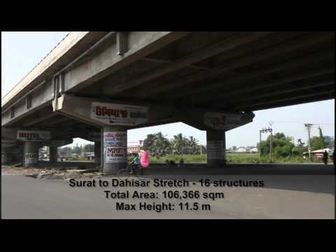 Structures from Surat to Dahisar on National Highway 8