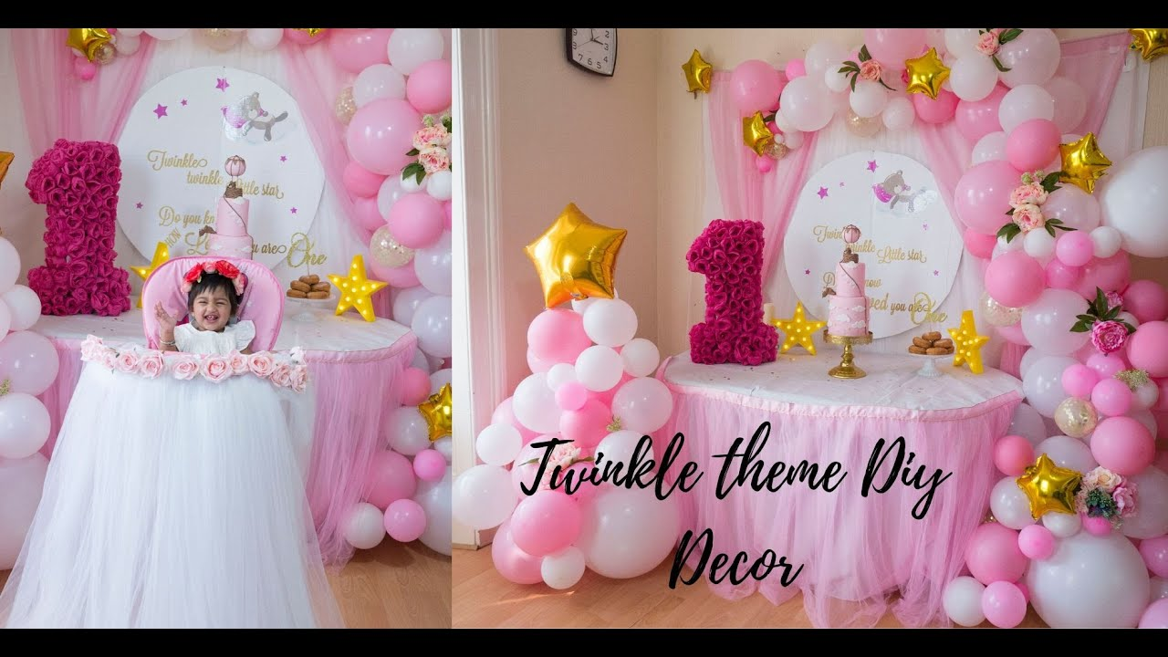 5 Diy Baby Shower Or Baby Girl Birthday Decor Step By Step Tutorial Youtube