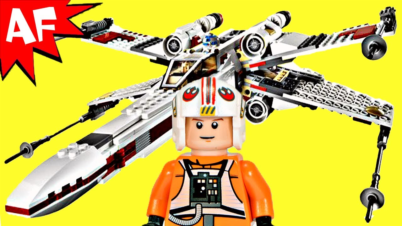 xwing starfighter lego star wars set 9493 animated
