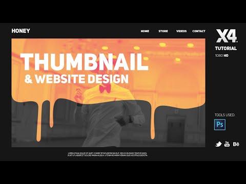 Photoshop Tutorial: Thumbnail Design & Website Design By Swerve™