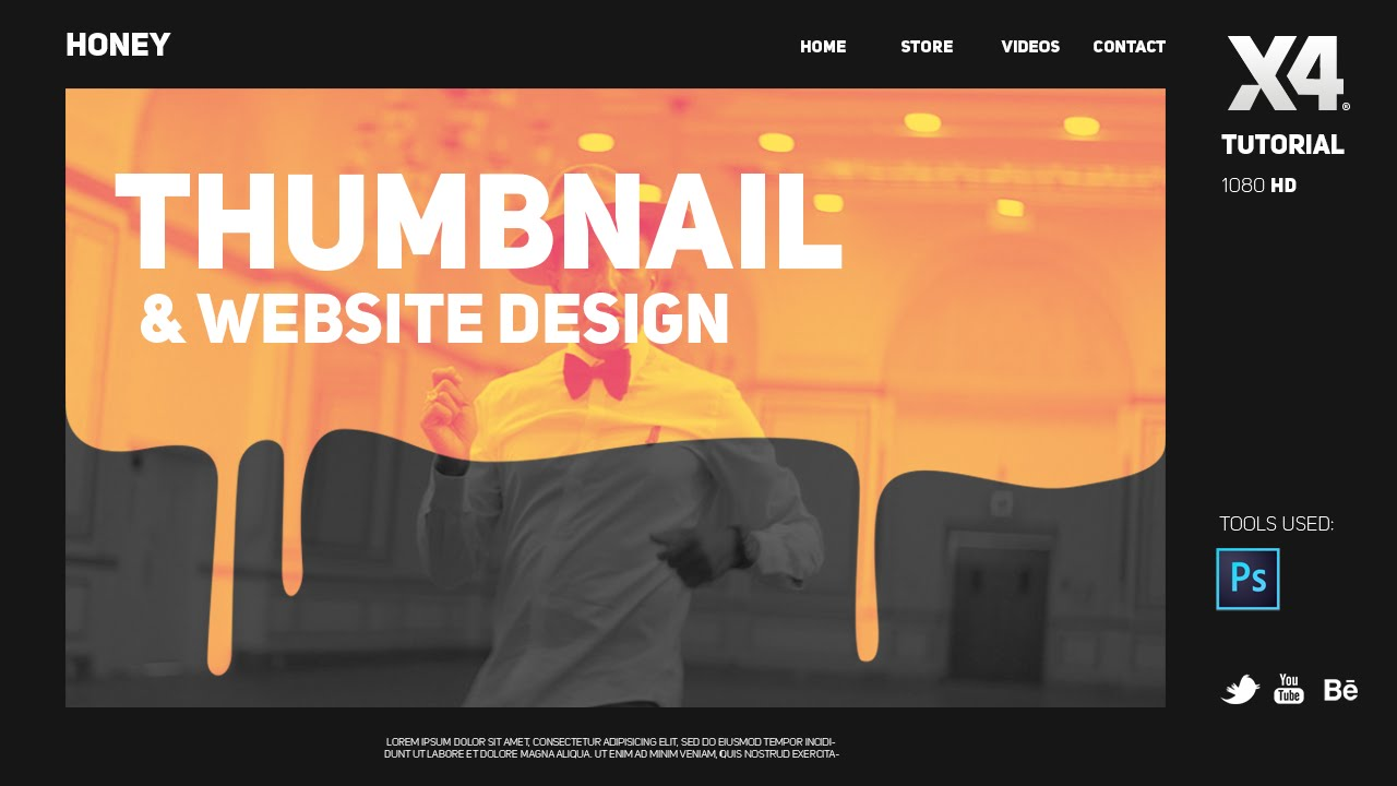 Photoshop Tutorial: Thumbnail Design & Website design by Swerve ...
