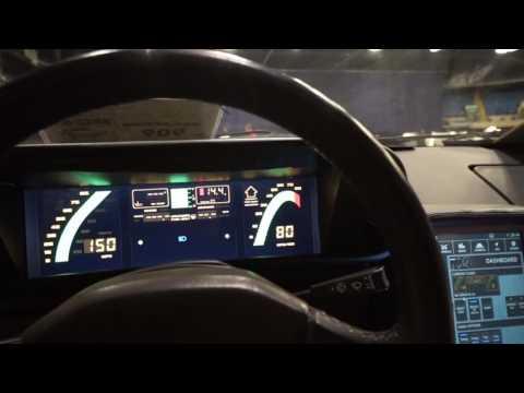 DeLorean digital dash