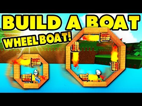 Build a boat WHEEL BOAT! (Reach end in 12 SECONDS!)